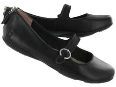 Hush Puppies Womens KRINDLE black leather mary janes