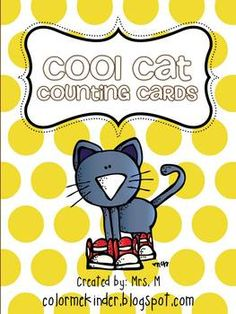 Cool Cat Number Cards 0-20