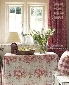 Design tip...every room should have a touch of red at the very least.  It brings life into your living spaces.