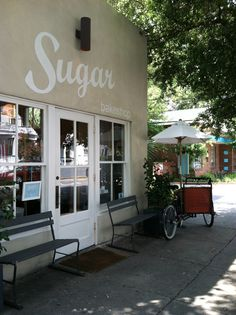 I just can't get enough of Sugar in downtown Charleston. I love their buttercream icing. But I tried their special order strawberry whipped cream cake and it was delicious! Even their storefront just makes me smile. http://sugarbake.com/  at 59 1/2 Cannon St. (just down from Hominy Grill).
