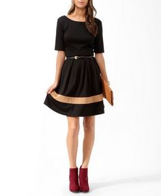 So cute! -- Essential Colorblocked Dress w/ Belt   FOREVER21 - 2019571397