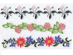 Floral Endless Borders 2 Machine Embroidery Designs http://www.designsbysick.com/details/floralendlessborders2