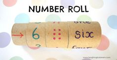 Making a Number Roll for Learning. This number roll teaches children about the different ways a number can be identified or represented. #preschool #efl #education (pinned by Super Simple Songs)