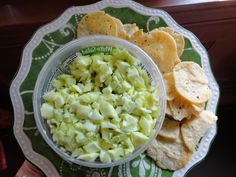 egg white salad with chives. dip it, scoop it, spread it.