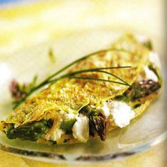 Asparagus Omelets With Goat Cheese from South Beach Diet