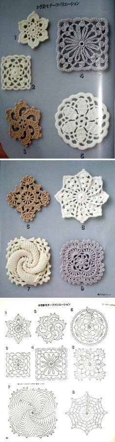 Lacy floral motifs  #crochet