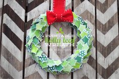 FREE Printable Holly Leaf Wreath by Kiki & Co. for Tatertots and Jello