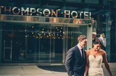 thompson hotel, bride, toronto hotel, groom