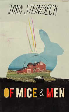 Of Mice & Men bookcover by Kathryn Macnaughton, #design #bookcover #type #steinbeck
