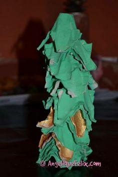 Egg carton Christmas tree...