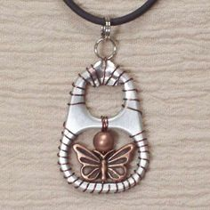 Trend Upcycle Jewelry - Ann-Made Pop Top Jewelry Charm and Butterfly Embellishment - click through the Beer Can Jewelry images. Lot's to see.