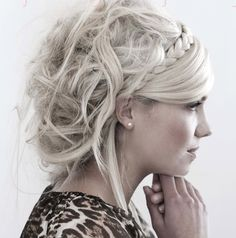 Romantic soft curls would look amazing paired with an undercut or mohawk