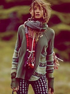 Free People Folkloric Patch Scarf