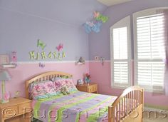Decorating A Bedroom : Butterfly Room Decor : Girls Room Decorations