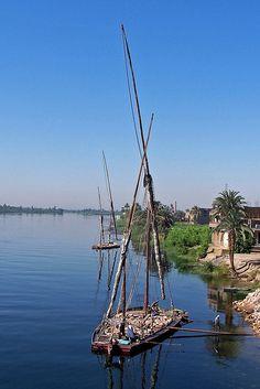 Stone transporting, Nile, Egypt