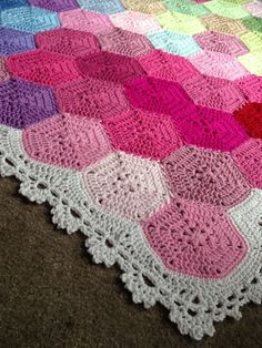 BabyLove Brand NEW Updated - Geometric Lace Blanket - Crochet Pattern/Tutorial - rectangle throw - blanket is also available
