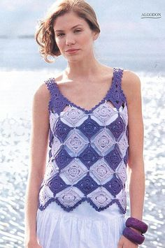Granny square top free pattern Great to wear over swim wear
