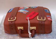 A luggage cake made for a friend moving away. Amazing, Cake Image, Ronna Cake, Ronna Blog, Cake Pop, Graduation Cake, Cake Art, Comments, Luggage Cake