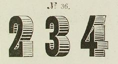 Vintage Numbers graphic, letter, font, art, angl, vintag number, diseño vintag, vintag design, number project