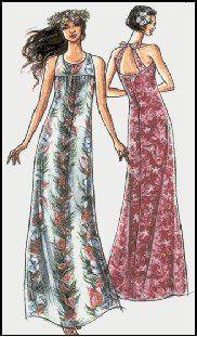 Amazon.com: Hawaiian MuuMuu with Back Straps Sewing Pattern #309: Arts, Crafts & Sewing