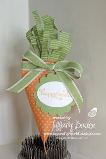 Stampin' Up! Sour Cream Container Carrot Tiffany Bauer Easter