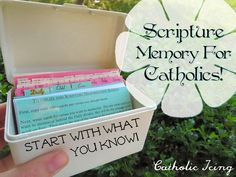 scripture memory for catholics- start with what you know