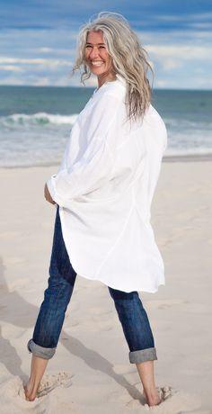 MegbyDesign Linen Tuxedo Shirt