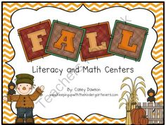Fabulous Fall Literacy and Math Centers (BUNDLED) from Keeping Up With Kinder on TeachersNotebook.com (104 pages)  - This fabulous fall packet is loaded with engaging, hands-on literacy and math activities to keep your kiddos busy all season long!