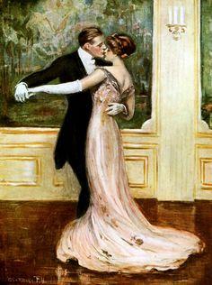 magazine covers, waltz 1912, galleri, romances, art, underwood, postcard, clarenc, dance