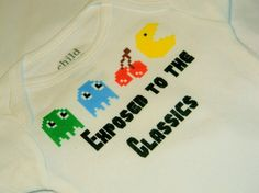 Pac Man Retro Bodysuit Exposed To The by EvangelinasCloset on Etsy, $12.50