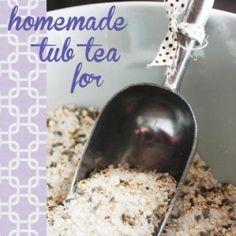 Homemade Lavender Tub Tea {teacher appreciation}