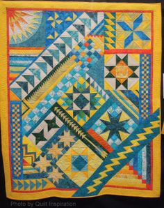 The Sky is the Limit by Janice Hester and Alice LaRue, quilted by Mary Vaneecke.  2014 TQG, photo by Quilt Inspiration