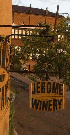 Jerome Winery in Jerome Arizona. A new adventure on my next AZ visit....