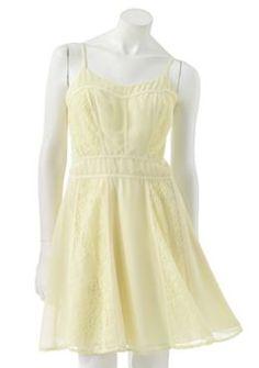 LC Lauren Conrad Lace Chiffon Dress