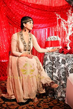 Husn-e-Afza cream anarkali