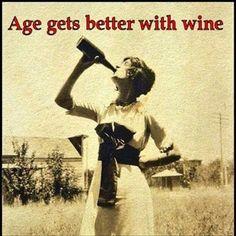 With wine.