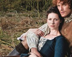 Claire (Caitriona Balfe) and Jamie (Sam Heughan) from TVGuide Magazine for #Outlander