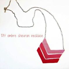How to make this cute and easy ombre chevron necklace!