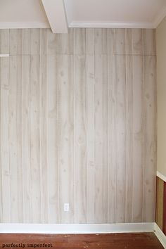 In love with this white wash paneling.  Will be doing this in our future home!
