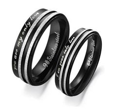 "TOPSELLER! Stainless Steel ""You Are My Only Love"" Engraved Couple Rings Set for Engagement, Promise, Eternity R017 (His Size 7,8,9,10... $15.99"