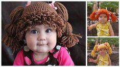 Cabbage Patch Wig reimagined as crochet hats -- page has links to pattern at The Lillie Pad. The completed Wig Hats are also for sale at The Lillie Pad or at Amazon.