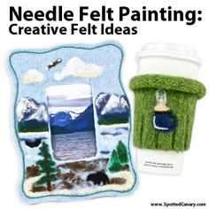 Needle Felt Painting - Creative Felt Ideas on Spotted Canary