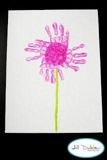 DIY Handprint Flower Canvas Keepsake for Mother's Day