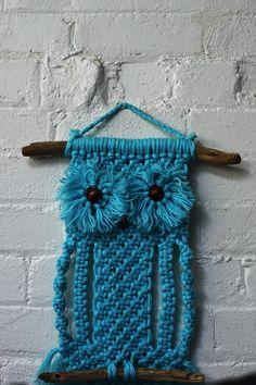 Classic macrame owl wall hanging