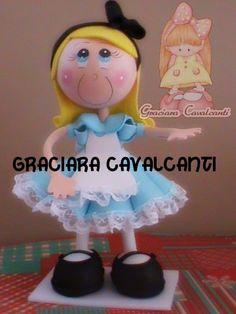 Alice in Wonderland fun foam doll...very cute...follow photo