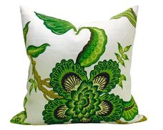 'Hot House Flowers' pillow cover in Verdance via Spark Modern on Etsy.