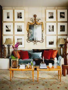 ♛ Above sofa swag... #Elegant #Home #Interior #Decor #Design  ༺༺  ❤ ℭƘ ༻༻   IrvineHomeBlog.com