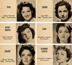 Modern Screens beauty expert Carol Carter reports for Vintage Makeup Guide.com and shows you how to match your given face with a glamorous Hollywood star in 1940′s make-up and hairstyle.