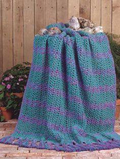 Gemstone Waves pattern  #crochet #afghan #throw #blanket
