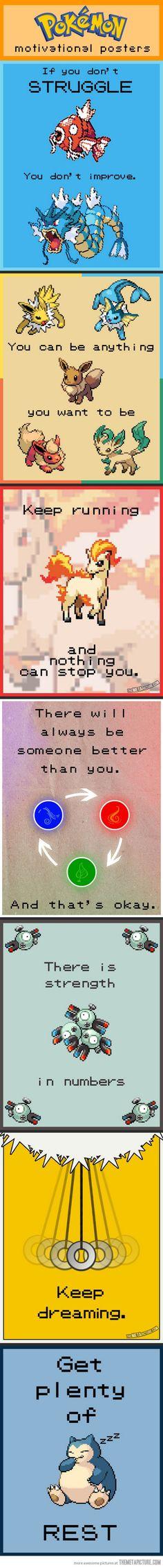 Motivational Pokémon Posters…